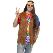 Fringe Vest Hippie 70S Flower Child Adult Mens Halloween Costume - Standard