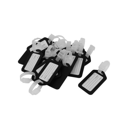 20 Pcs Plastic Baggage Backpack Address Message Luggage Holder Tag