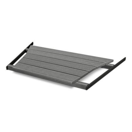Polywood TT21GY Shell Back Tete-a-Tete Table Slate Grey