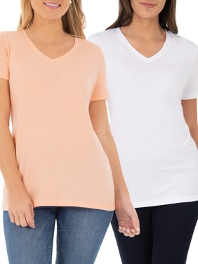 24b3afd2f2b5e9 Product Image Women s Essential Short Sleeve V-Neck T-Shirt