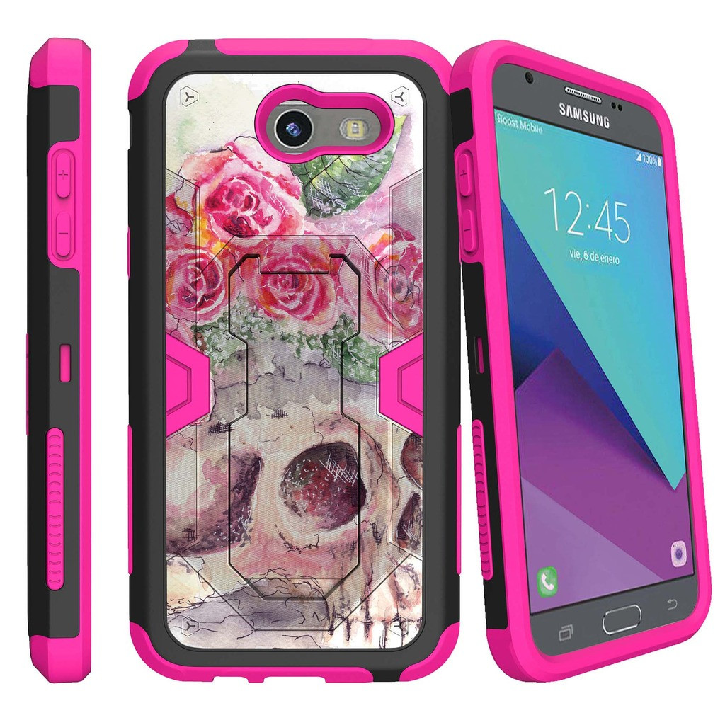 Fits with Silicone Gel cover FYL Case Pouch Belt Holster for Samsung Galaxy J3