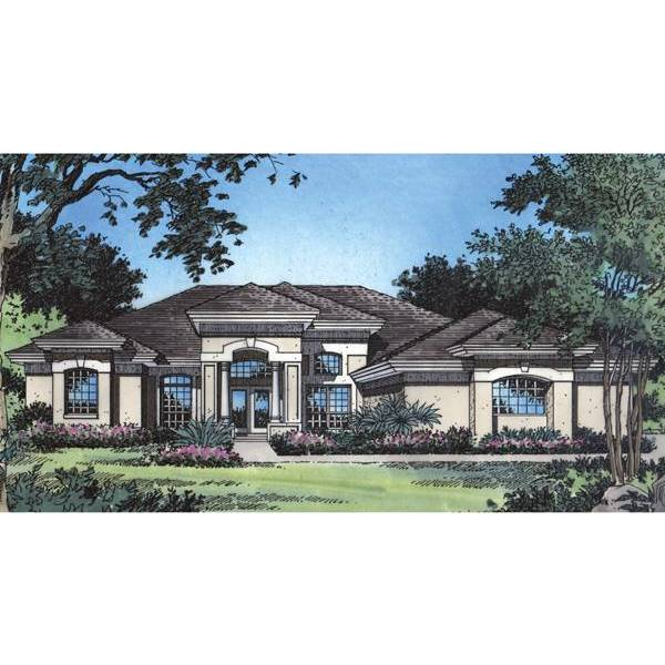 TheHouseDesigners-4042 Contemporary House Plan with Slab Foundation (5 Printed Sets)