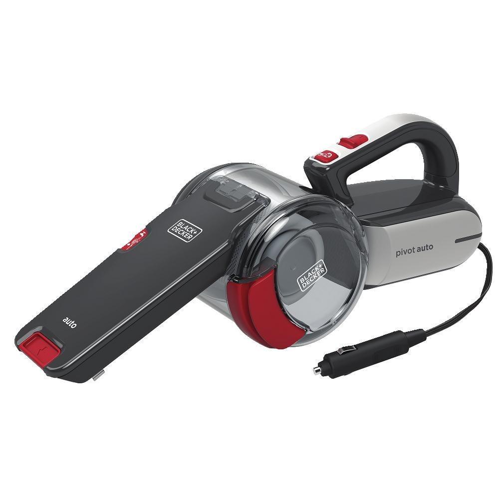 BLACK+DECKER 12V Car Pivot Handheld Vacuum, BDH1200PVAV