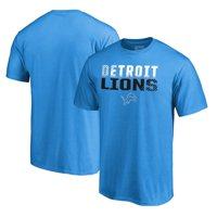 Detroit Lions NFL Pro Line by Fanatics Branded Iconic Collection Fade Out T-Shirt - Blue