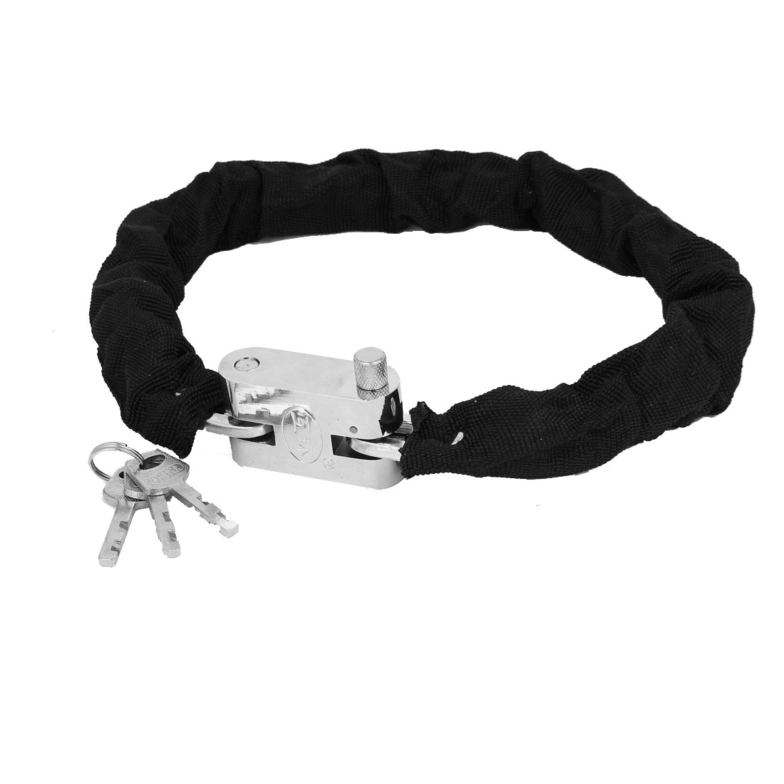 Cycling Bike Bicycle Security Chain Lock Padlock 65cm Length w Keys
