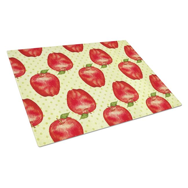 Carolines Treasures BB7516LCB Watercolor Apples & Polkadots Glass Cutting Board, Large - image 1 de 1