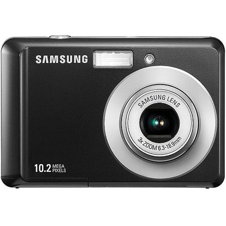 "Samsung SL30 Black 10 MP Digital Camera w/ 3x Optical Zoom, 2.5"" LCD Display, Image Stabilization"
