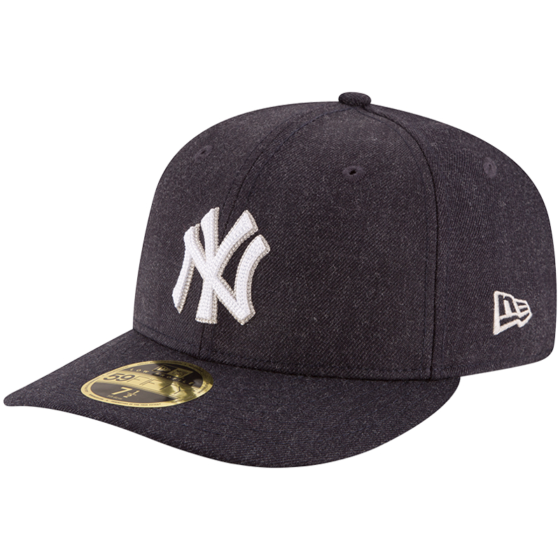 New York Yankees New Era Crisp Low Profile 59FIFTY Fitted Hat - Heathered Navy