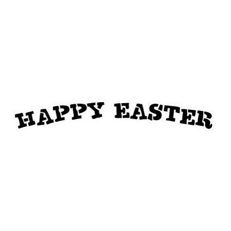 Word Stencil - Happy Easter Curved