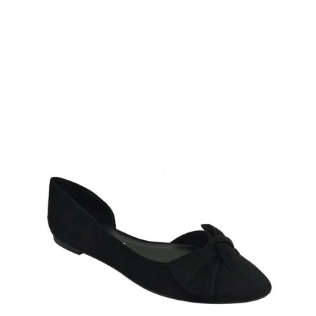 Women's Almond Toe Bow Flat Shoe