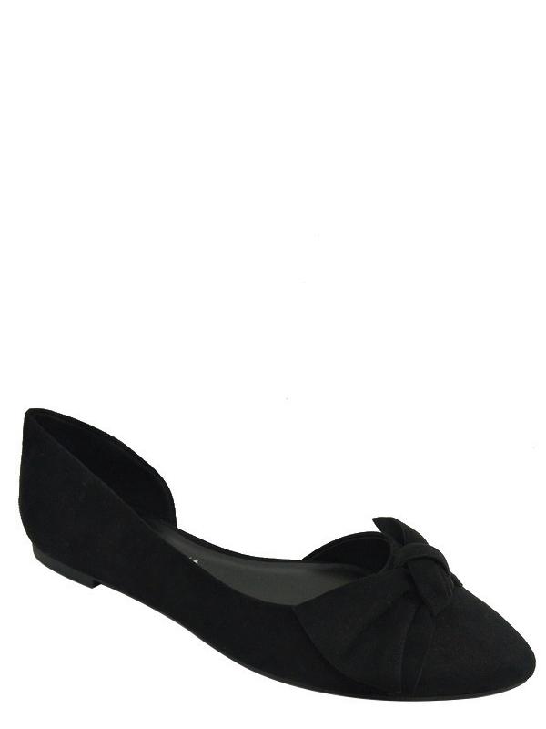 Big Buddha Women's Almond Toe Bow Flat Shoe