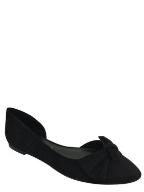 7df234709c98 Product Image Women s Almond Toe Bow Flat Shoe