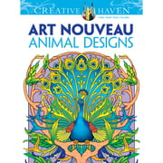 Dover Creative Haven Coloring Book, Art Nouveau Animal Designs and Patterns
