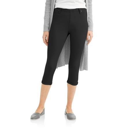 424d4d409944f5 Time and Tru - Women's Soft Knit Jegging Capris - Walmart.com