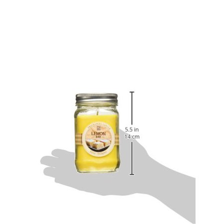 Bulk Buy. Hosley's Set of 3, Lemon Bar Scented Mason Jar Candles 11oz Each. Ideal votive GIFT for party favor, weddings, Spa, Reiki, Meditation, Bathroom settings 3 Oz Square Votive Candle