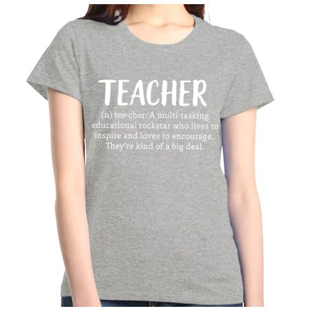 Shop4Ever Women's Teacher Definition Graphic T-Shirt ()