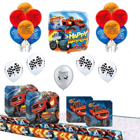 Blaze and the Monster Machines Party Supplies and Balloon Bundle - Balloons And Parties