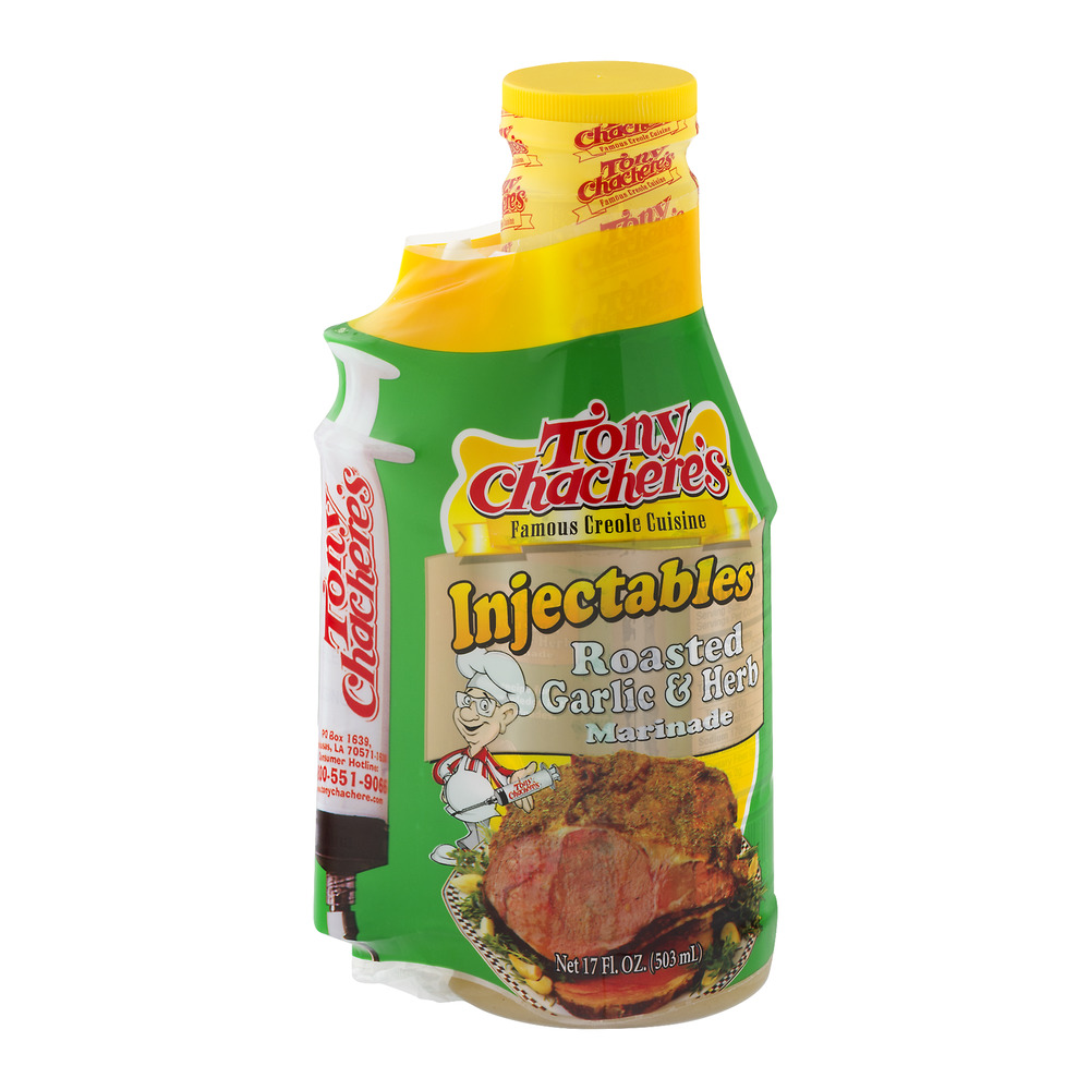 Tony Chachere's Injectable Roasted Garlic & Herb Marinade, 17 fl oz