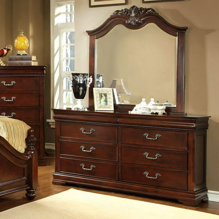 Furniture of America Grand Central 6 Drawer Dresser - Cherry (Dj Dresser)
