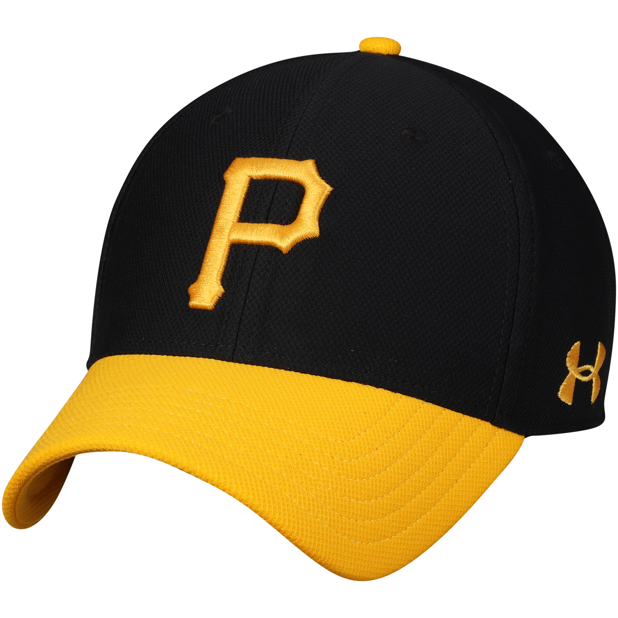 Pittsburgh Pirates Under Armour Blitzing Performance Adjustable Hat - Black/Gold - OSFA