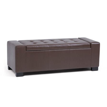 Simpli Home Laredo Large Storage Ottoman Bench ()