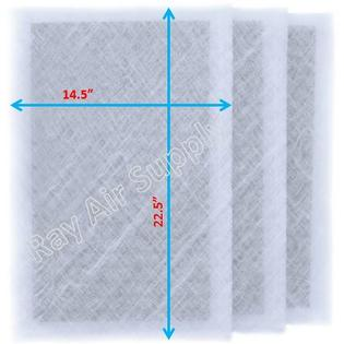 MicroPower Guard Air Cleaner Replacement Filter Pads 16x25 Refills (3 Pack)