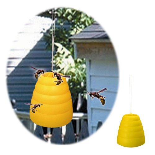 Trademark Home Collection Yellow Beehive Wasp Traps - Two Pack