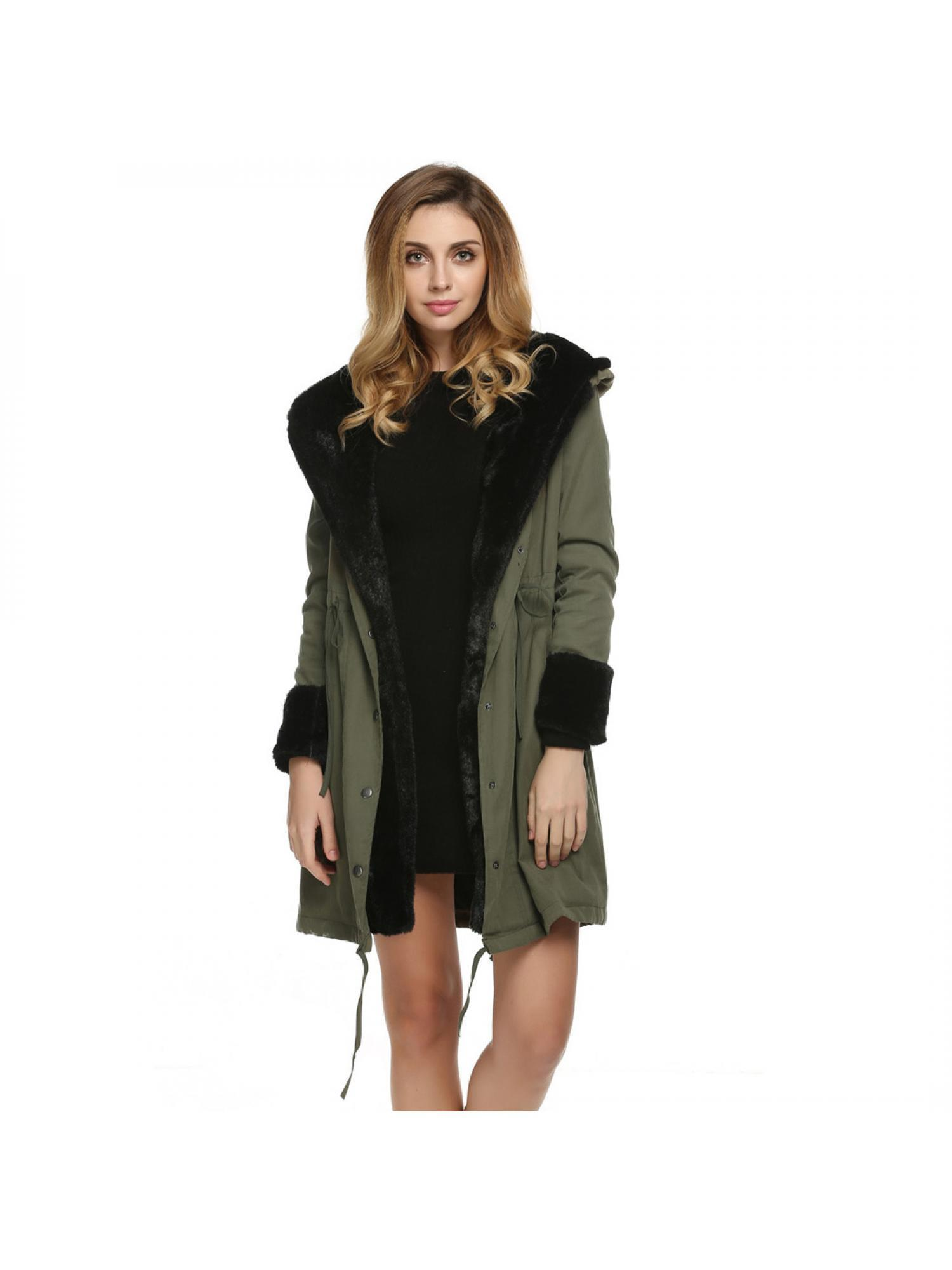 Clearance ! Women Overcoat  Lady Hooded Winter Warm Thick Faux Fur Coat Parka Long Outerwear Jacket CEAER
