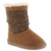 Bearpaw Girl's Donna Youth Snow Boots Tan Suede 5 Big Kid M