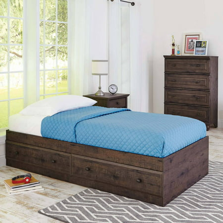 Better homes and gardens crossmill mates bed heritage walnut for Walmart better homes and gardens futon