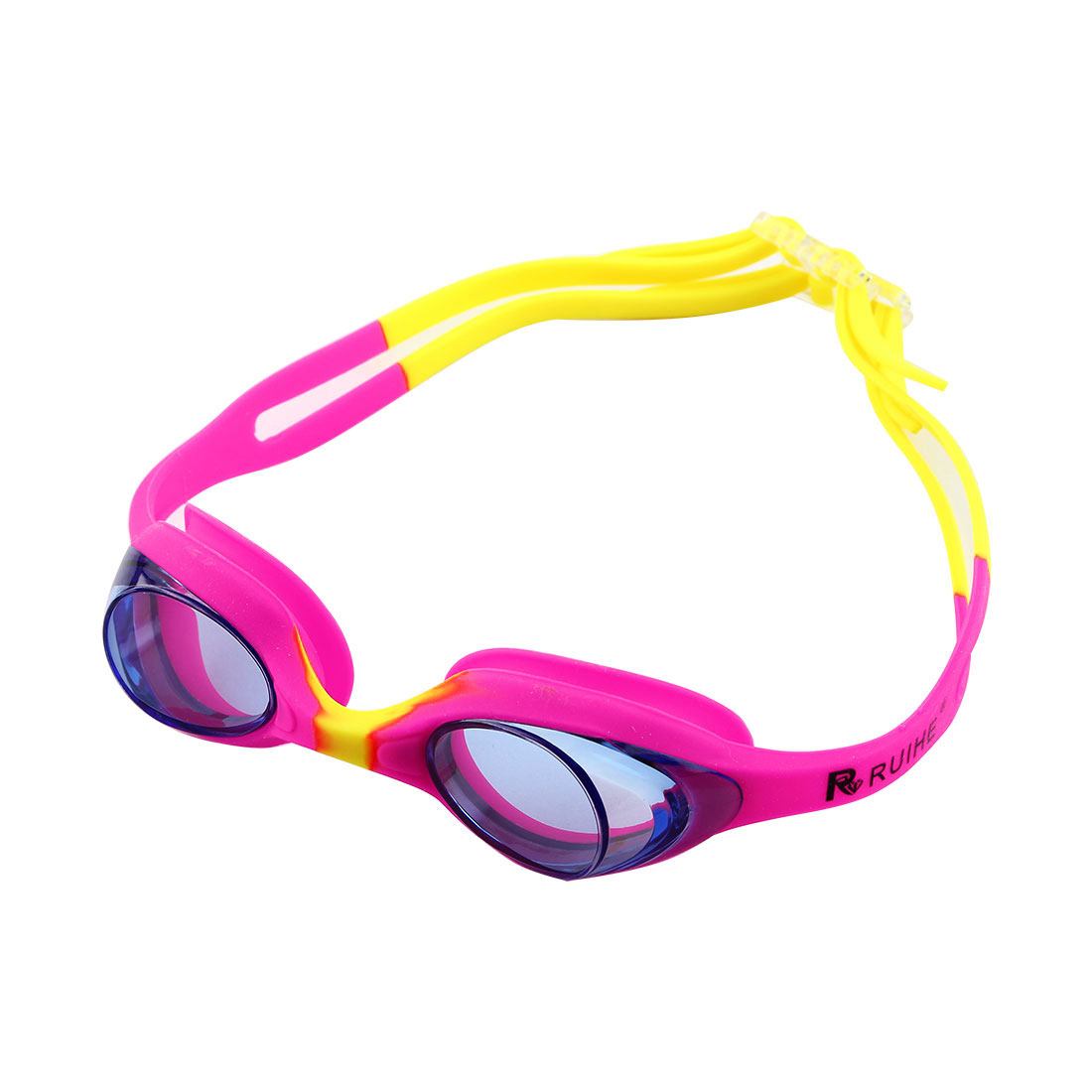 Clear Vision Anti Fog Swimming Goggles Glasses Pink Yellow for Youth