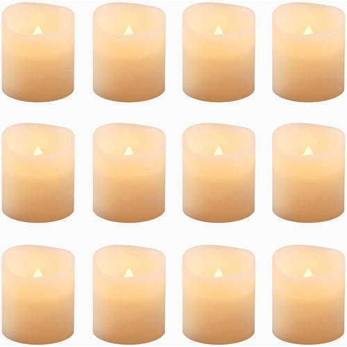 Flickering Battery Operated Votive Candles, 12-Count