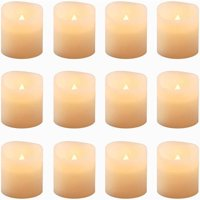 Product Image Flickering Battery Operated LED Votive Candles 12 Count