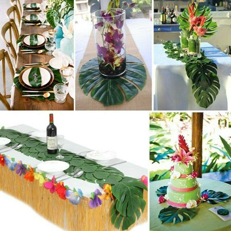 KABOER Hawaiian Tropical Palm Leaves Party Jungle Beach Theme Pretty~wa - Beach Themed Parties
