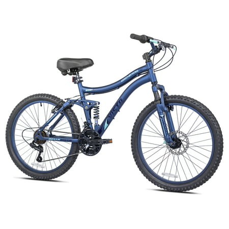 "Kent 24"" Ladies, Bella Vista Bike with Full Suspension, Blue, For 4"