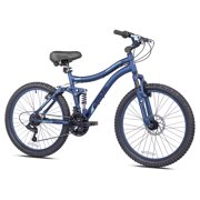 "Kent 24"" Ladies, Bella Vista Bike with Full Suspension, Blue, For 4'6"" Height Sizes and Up"