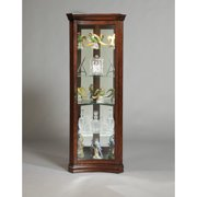 Darby Home Co Nannie Lighted Corner Curio Cabinet