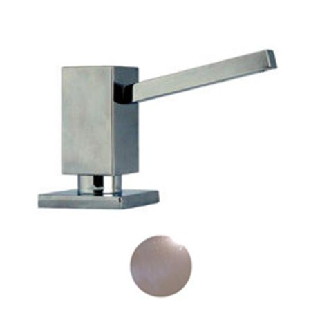 WHSQ-SD003-PC 3.75 in. Q-Haus solid brass soap-lotion dispenser- Polished Chrome