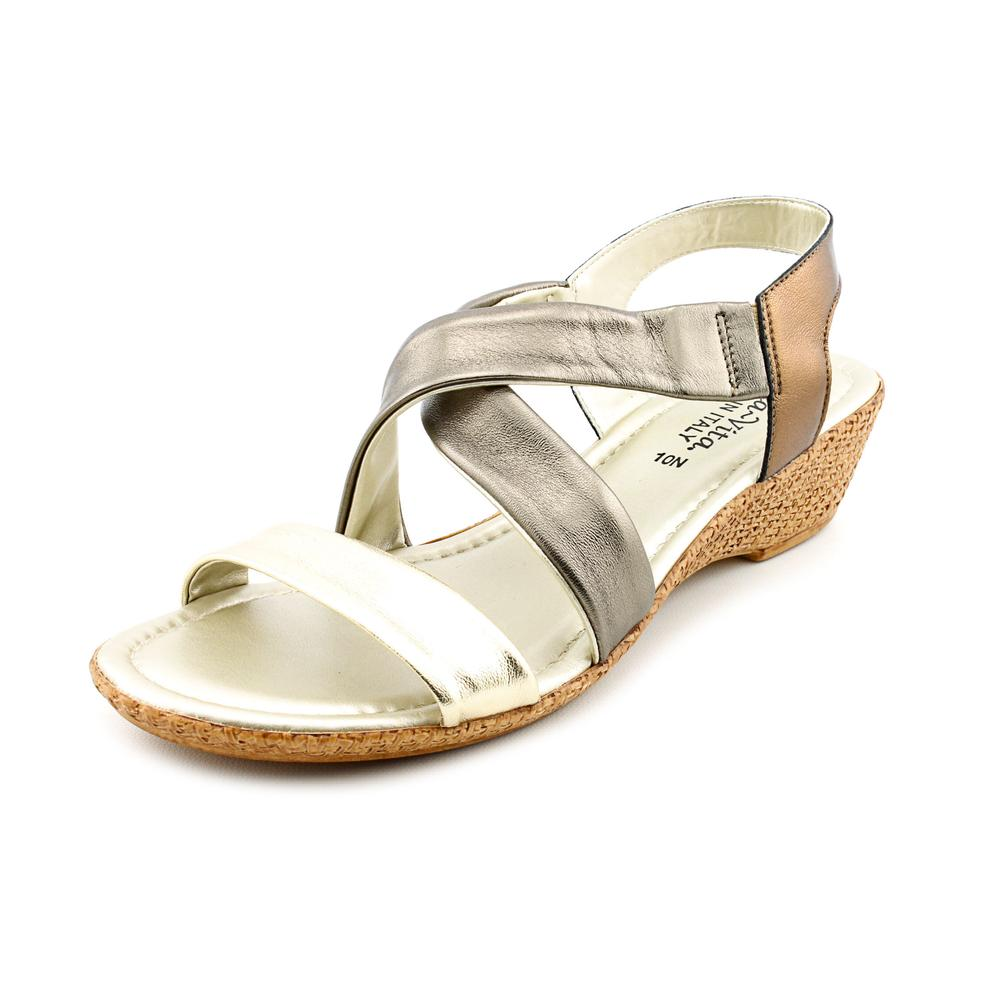 Bella Vita Ciao Women N S Open Toe Leather Bronze Wedge Sandal by Bella Vita