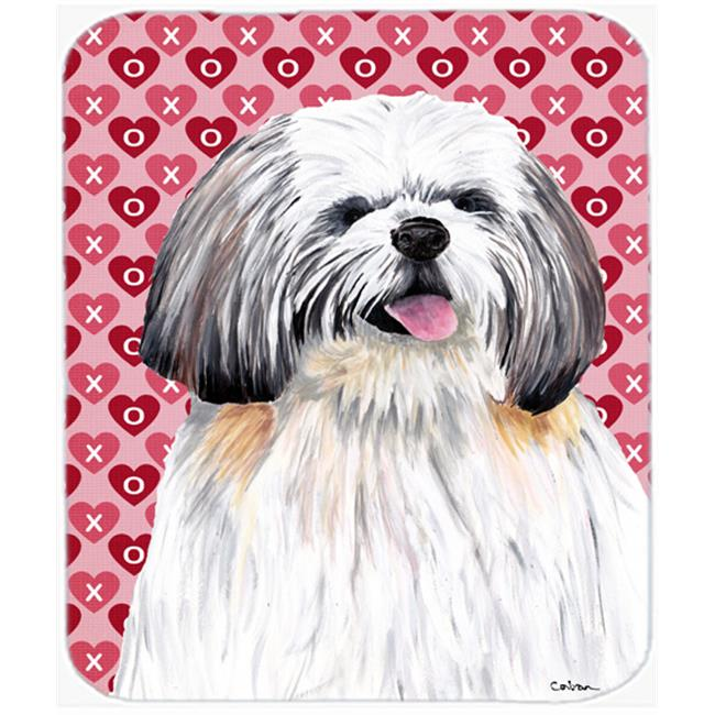 Shih Tzu Hearts Love And Valentines Day Portrait Mouse Pad, Hot Pad Or Trivet