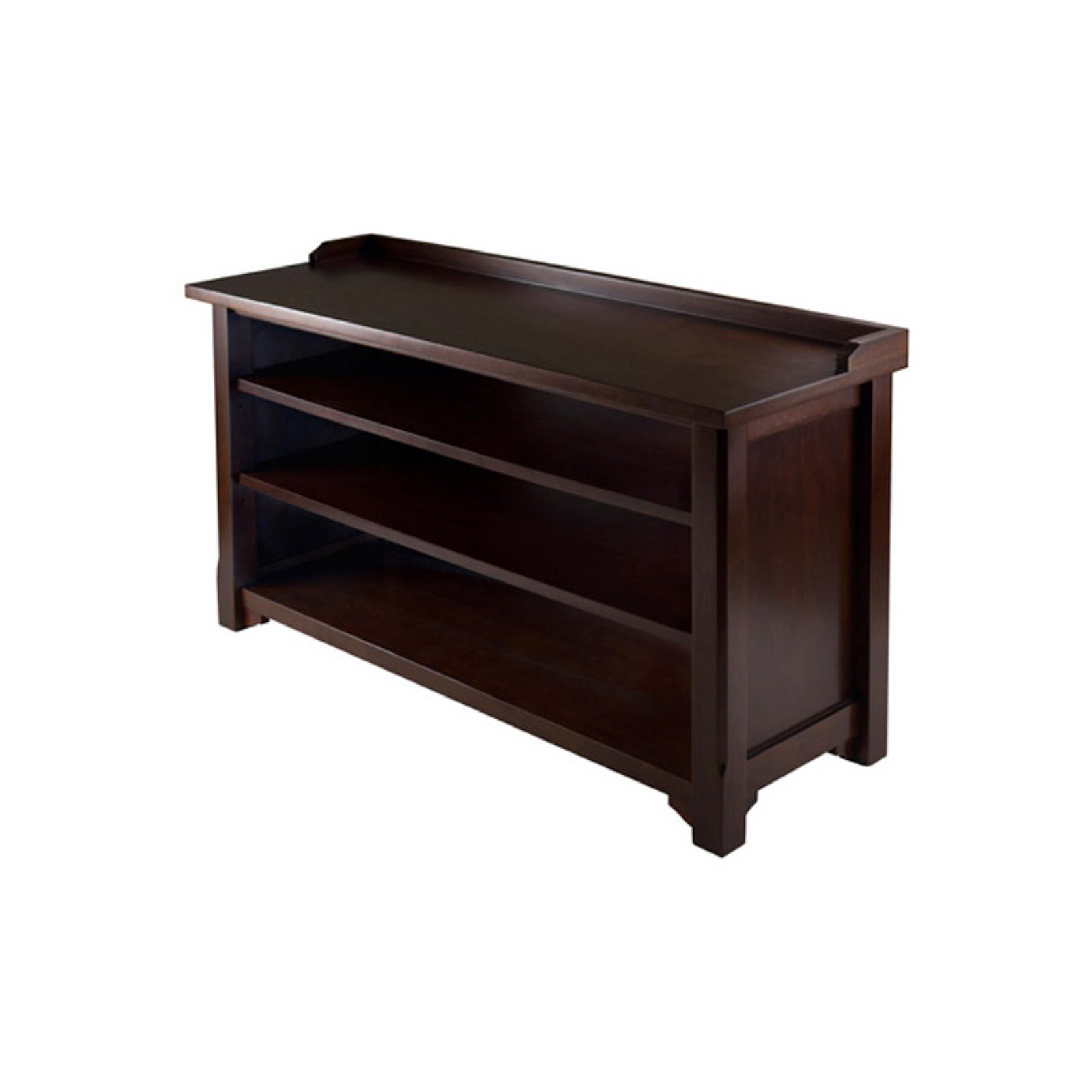 Dayton Entryway Shoe Storage Bench Walnut