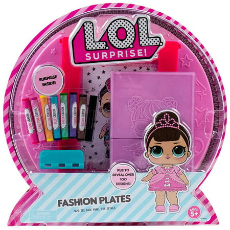 L.O.L. Surprise! Fashion Plates, Fashion Design Activity Kit (Makes Over 100 Designs, 14 Fashion Plates, 20 Sheets of Paper, 1 Scratch Art Sheet, 7 Crayons Included)