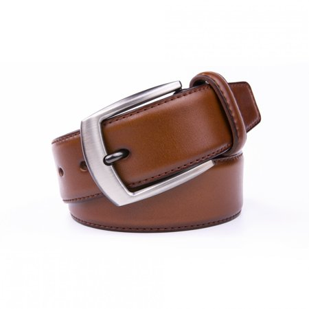 69 Leather - Belts For Men, Premium Genuine Leather 1.5 Wide Classic Dress Belt - Cognac