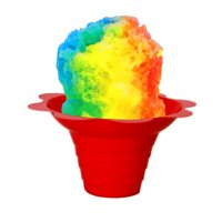 Shaved Ice / Sno Cone Flower Cups, 4 ounce (small), Case of 1000, Mixed Colors Per Case