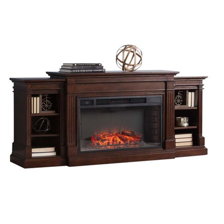 Bowery Hill Electric Fireplace TV Stand in Espresso ()