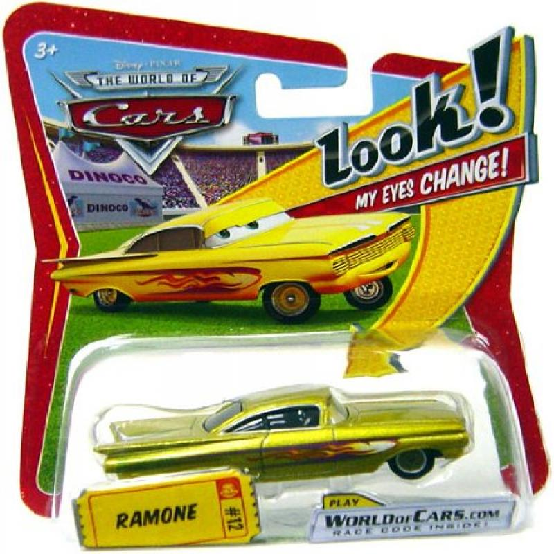 Disney / Pixar CARS Movie 1:55 Die Cast Car with Lenticular Eyes Yellow Ramone