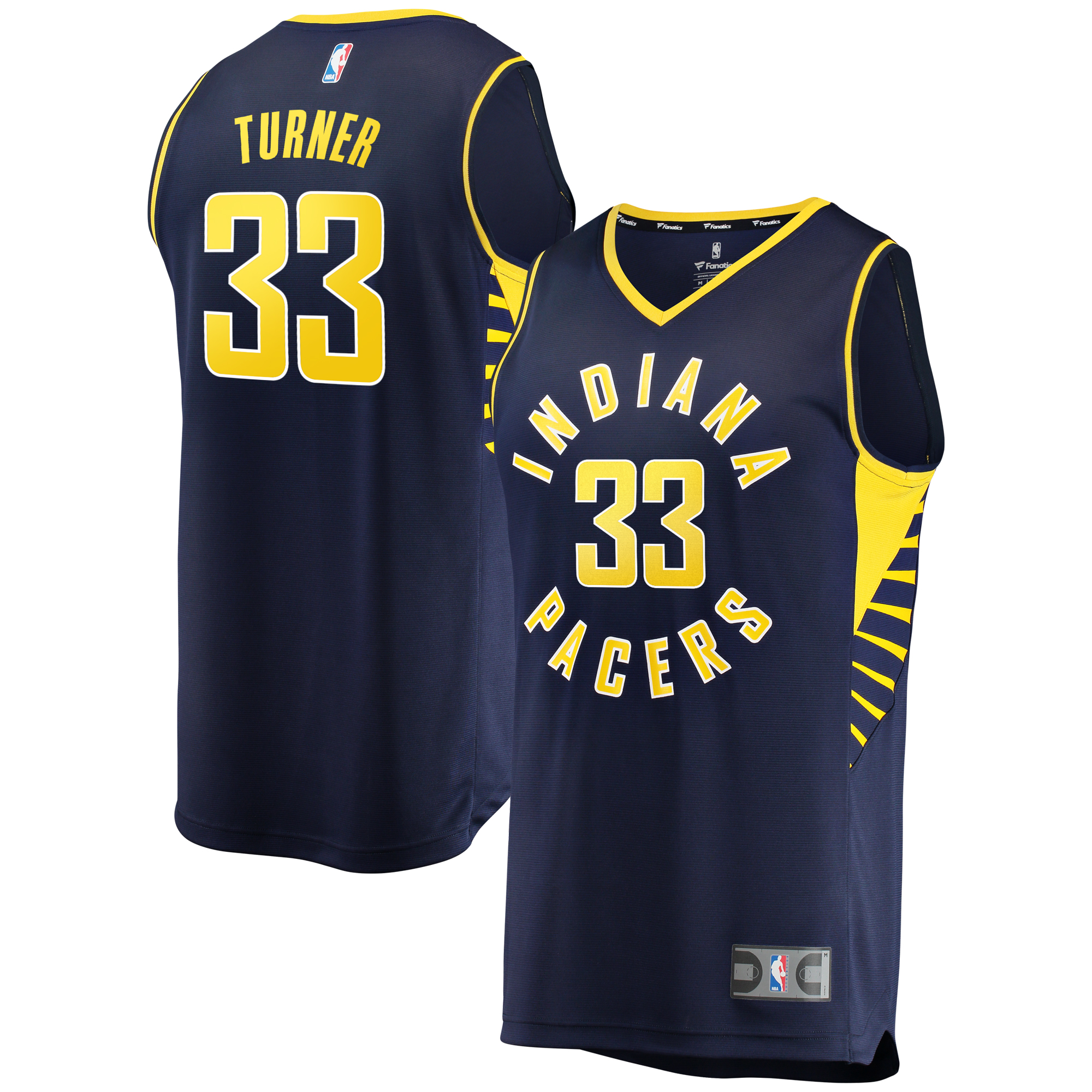 Myles Turner Indiana Pacers Fanatics Branded Fast Break Replica Jersey Navy - Icon Edition