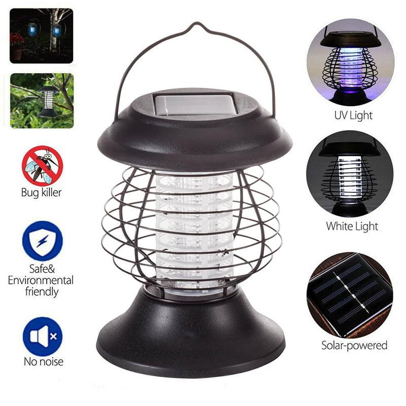 Solar Mosquito Fly Bug Zapper Insect Killer Trap Lamp Outdoor Garden Patio Light
