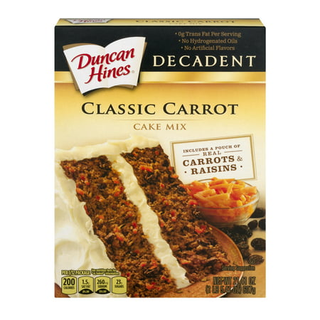 (3 Pack) Duncan Hines Decadent Classic Carrot Cake Mix 21.41 oz Box
