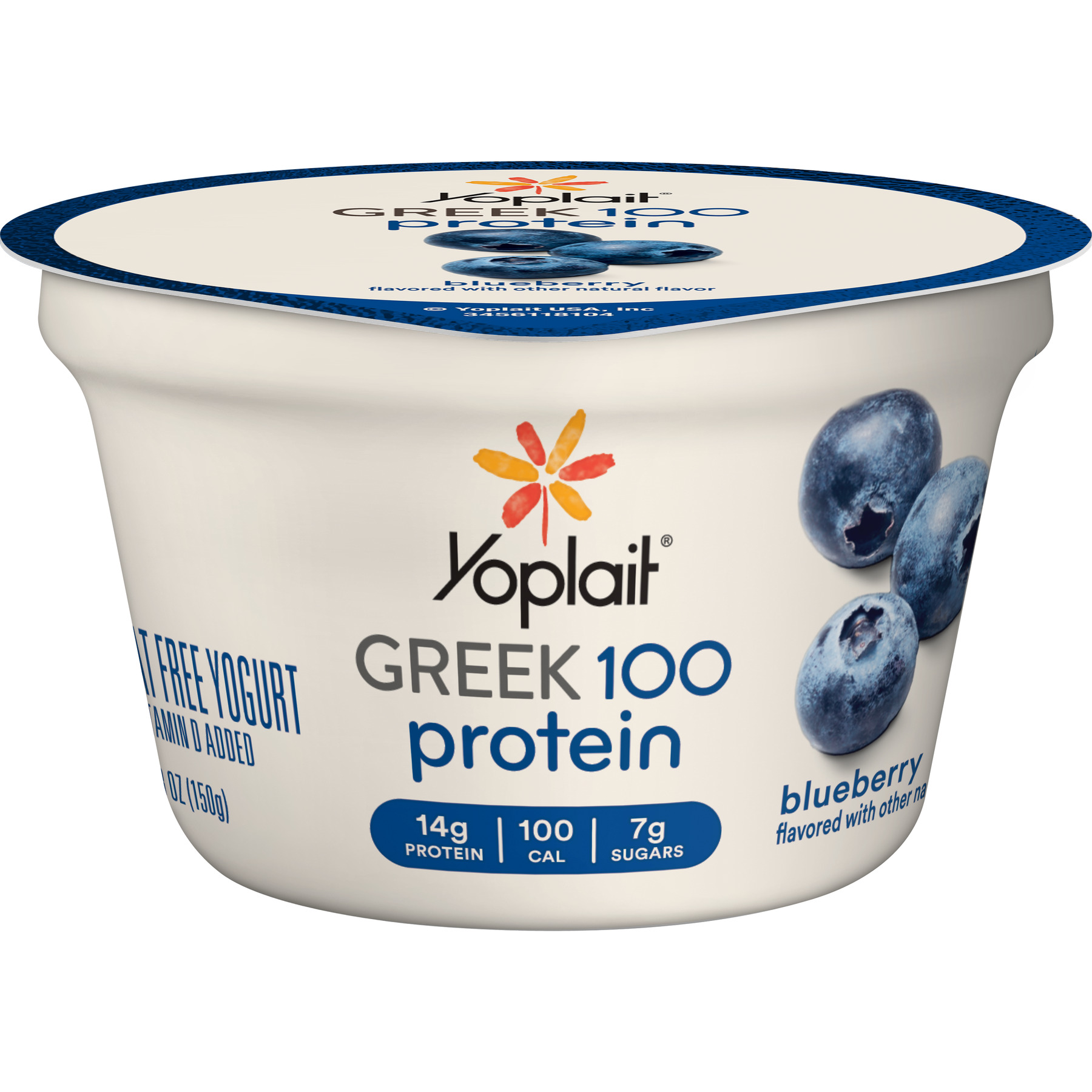 Yoplait Greek 100 Protein Yogurt Blueberry, 5.3 oz